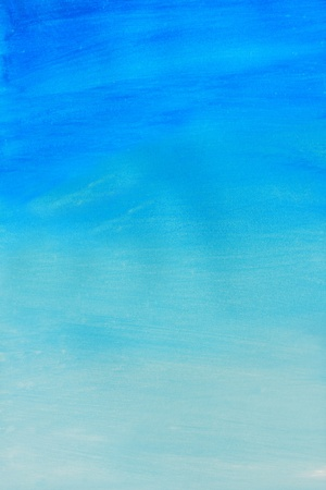 Abstract of blue watercolor painted background  Stock Photo - 8530293