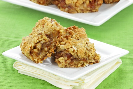 pitted: Delicious date bars made with oats and pitted dates.