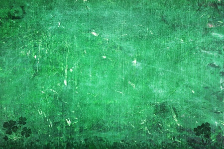 grunged: Grunge St. Patricks Day Background with copy space.