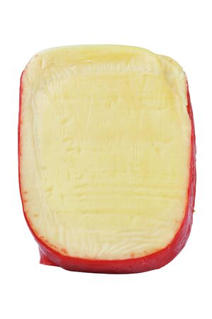 dutch: Dutch Edam cheese isolated on white background
