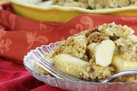apple pie: Reci�n horneado manzana crujiente. Poca profundidad de campo con enfoque selectivo en el primer plano.
