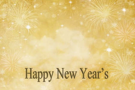 GoldenNew Year's Day background with copy space available. photo