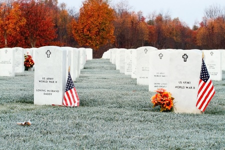 military cemetery: Camp Nelson National Cemetery in Kentucky. Stock Photo