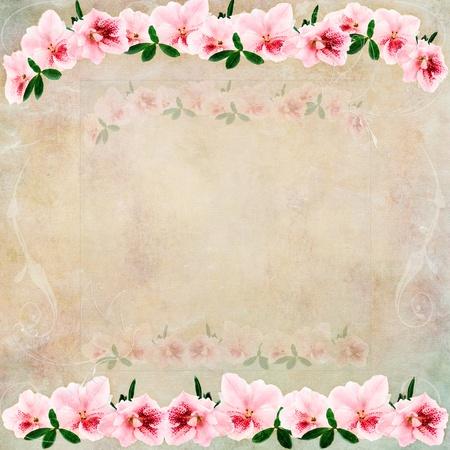 Vintage achtergrond met bloemen en ruimte voor exemplaar ruimte.