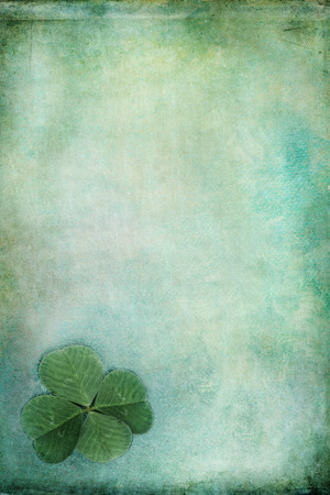 filtered: Textured St Patricks Day background with copy space.  Stock Photo