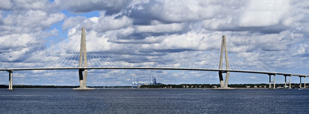 Cooper River Bridge in Charleston, South Carolina on a beautiful day. photo