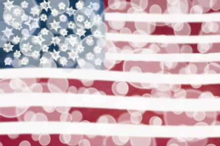 Abstract background of an American flag. Stock Photo