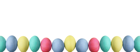 Isolated colorful Easter eggs over a white background with clipping path included.