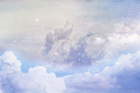 rendition: Artistic rendition of clouds and space using Elements of this image furnished by NASA