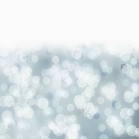 Bright sparkly abstract background of retro tinted Christmas holiday lights toned a blue grey color. Room for text.