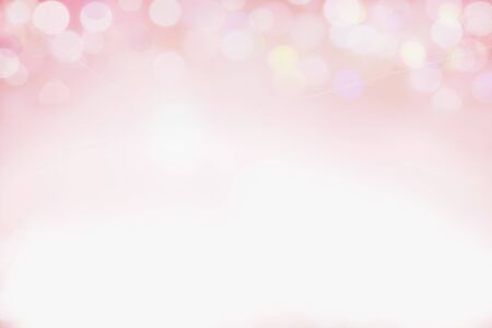 Beautiful pink bokeh background perfect for Valentines Day or Wedding Invitations. Free space for text.  Stockfoto