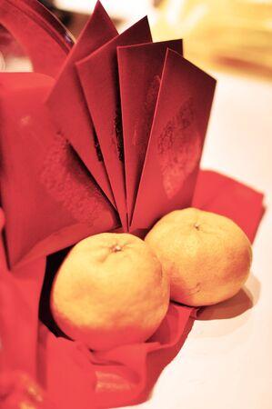 Mandarin Oranges with Ang Pow