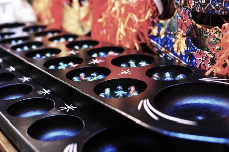 Malaysian Traditional Game Congkak  Stock Photo