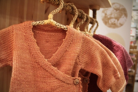 Baby sweater on the rack