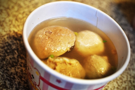 Fishball, porkball in a cup