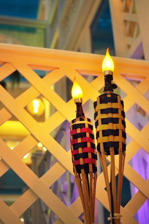 raya: Hari Raya lamp at village house