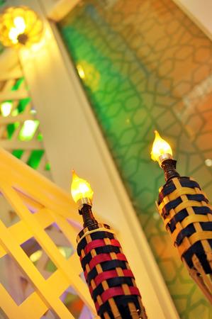 malay village: Hari Raya t� de la l�mpara