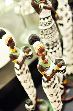 nigerian: Nigerian Women Statue on Display
