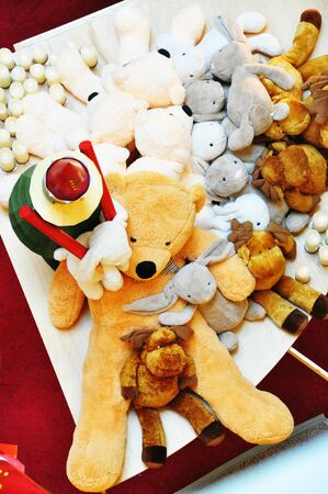 soft toys: lots of teddy bear soft toys