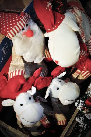 soft toys: Santa and raindeer soft toys