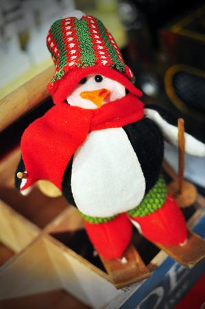 soft toy: Penguin Soft Toy Ski in Snow