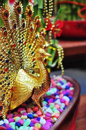 prosper: Golden Peacock Stock Photo