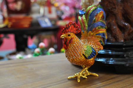 Fengshui Astrology Rooster Figurine Stock Photo