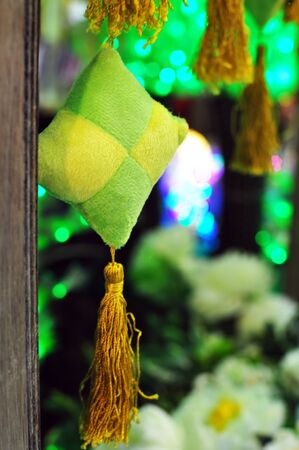 Green and Yellow Ketupat Decoration