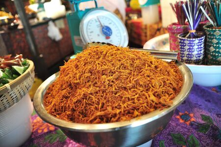 malay village: Serunding, Malay Delicacy meat floss for sale by weight