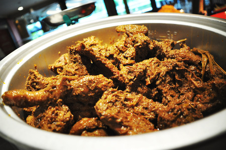 Chicken Rendang, delicious thick curry