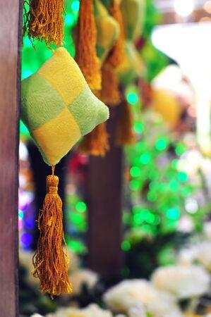 compressed rice: Close up ketupat ornament decoration for Hari Raya