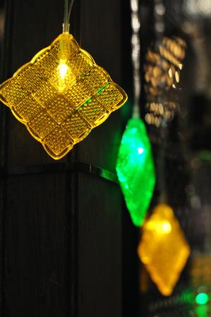Ketupat Decoration Ornaments for Hari Raya Stock Photo