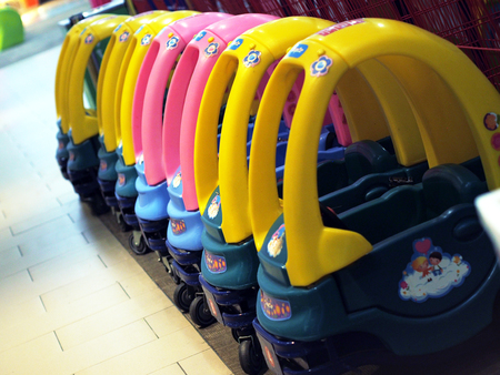 Stroller cars for rent in shopping mall