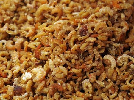 Dry shrimp - udang kering in Malay, in bulk for sale at the market Stockfoto