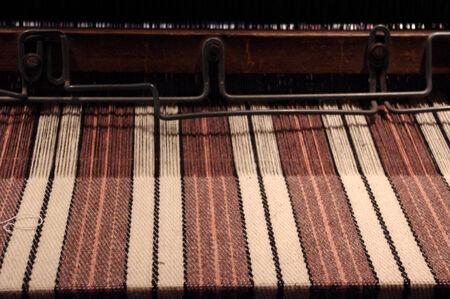 An Antique Rug on a Loom