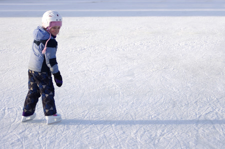 frozen lake: A Young Skater on the Rideau Canal