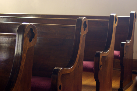 pews: A row of Church pews