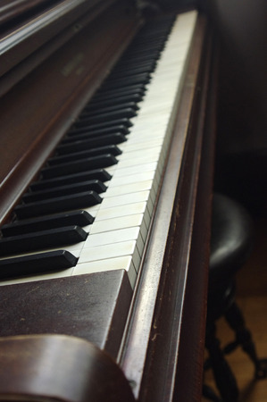A close up of Piano