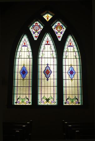 Un vitrail dans une église  Banque d'images - 37147134