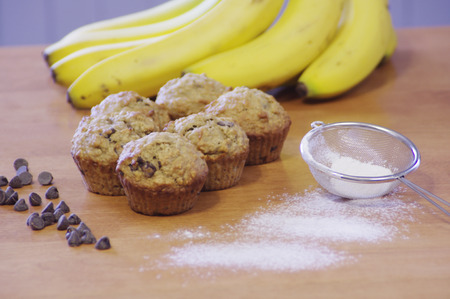 Homemade banana muffins Zdjęcie Seryjne - 39042038