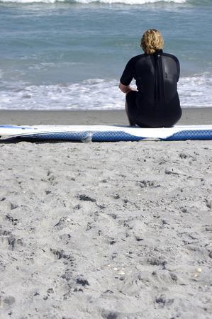 suffer: suffer on beach Stock Photo