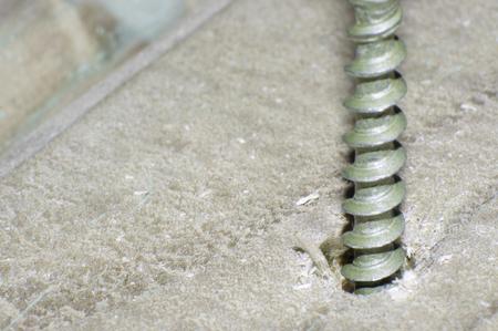 screw: close up of screw threads