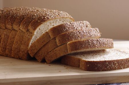 whole wheat: whole wheat bread slices Stock Photo