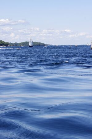 smooth: smooth waves of blue water Stock Photo