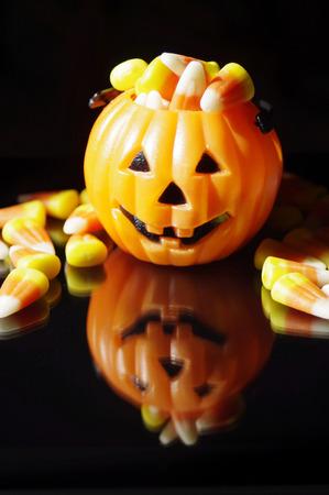 jack'o'lantern: Jack-o-lantern filled with candy corn