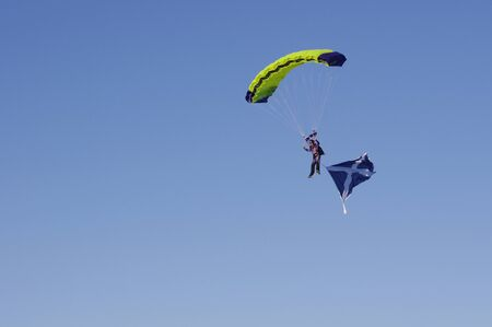 sky driver with Scotland flag
