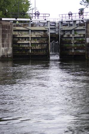 Water locks opening