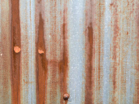 Rusty colorbond sheet of the roof texture background, roofing material