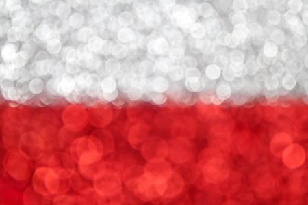 polish flag: Abstract Poland Flag bokeh background