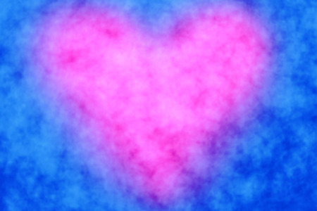 Abstract pink heart and blue background 版權商用圖片